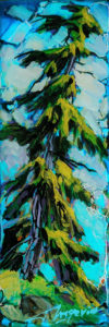 """SOLD """"1913,"""" by David Langevin 2 1/2 x 7 1/2 - acrylic, high-gloss finish $195 (5/8"""" panel with painted edges)"""