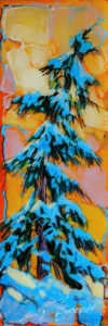 """SOLD """"1918,"""" by David Langevin 2 1/2 x 7 1/2 - acrylic, high-gloss finish $195 (5/8"""" panel with painted edges)"""