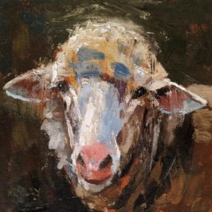 """SOLD """"Agnes,"""" by Paul Healey 8 x 8 - oil $400 Unframed $520 in show frame"""