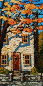"""SOLD """"Atlantic Blue,"""" by Rod Charlesworth 6 x 12 - oil $750 Unframed $880 in show frame"""