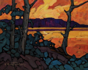 """""""Caramelized Sky,"""" by Phil Buytendorp 8 x 10 - oil and acrylic $625 Unframed"""