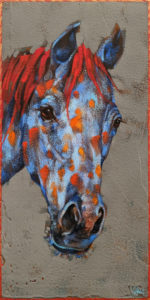 """SOLD """"Clementine,"""" by Angie Rees 6 x 12 - acrylic $450 (unframed panel with 1 1/2"""" edges)"""