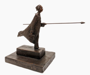 """""""The Dreamer,"""" by Michael Hermesh 11"""" (H) x 14"""" (L) x 7"""" (W) - bronze Edition of 15 $4000"""