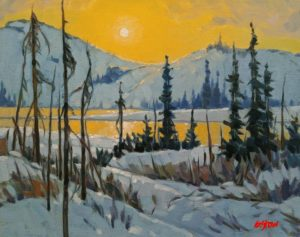 """SOLD """"Edge of the Barrens,"""" by Graeme Shaw 11 x 14 - oil $735 Unframed $990 in show frame"""