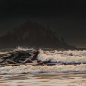 """SOLD 'Fury (Study)"""" by Ray Ward 5 x 5 - oil $625 Unframed $785 in show frame"""