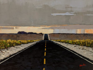 """""""Home is Calling,"""" by Min Ma 9 x 12 - acrylic $1090 Unframed"""