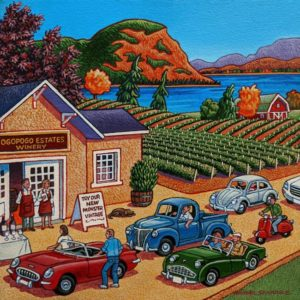 """SOLD """"If You Bottle It, They Will Come,"""" by Michael Stockdale 10 x 10 - acrylic $475 Unframed $585 in show frame"""