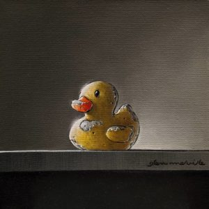"""SOLD """"James Pond,"""" by Glen Melville 8 x 8 - oil and acrylic $375 (thick canvas wrap)"""