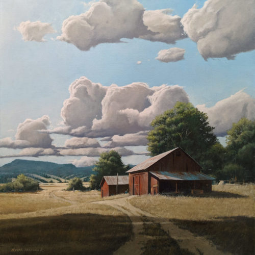 """""""Late Summer Days,"""" by Keith Hiscock 20 x 20 - oil $2800 Unframed"""