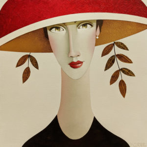 """SOLD """"Layla,"""" by Danny McBride 14 x 14 - acrylic $1275 (thick canvas wrap) $1400 in show frame"""