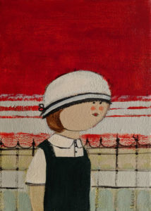 """SOLD """"Mlle. Anne,"""" by Louise Lauzon 5 x 7 - acrylic $240 Unframed $300 in show frame"""