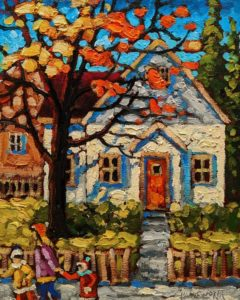 """SOLD """"October Colour,"""" by Rod Charlesworth 8 x 10 - oil $750 Unframed $900 in show frame"""