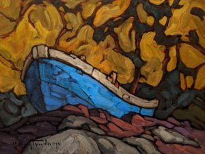 """""""Old Blue,"""" by Phil Buytendorp 9 x 12 - oil $730 Unframed"""