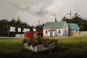 """The Old Miners Cabin,"" by Mark Fletcher 20 x 30 - acrylic $2090 Unframed"