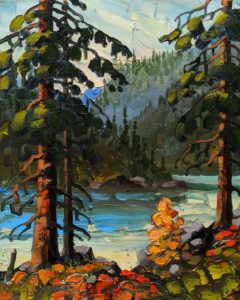 """SOLD """"Pillar Lake,"""" by Rod Charlesworth 8 x 10 - oil $750 Unframed $850 in show frame"""