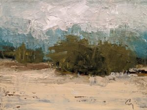 "SOLD ""Printemps"" (Spring Time) by Robert P. Roy 9 x 12 - oil $560 Unframed"