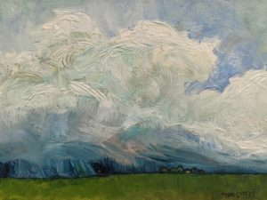 """SOLD """"The Rains,"""" by Steve Coffey 9 x 12 - oil $925 Unframed $1160 in show frame"""