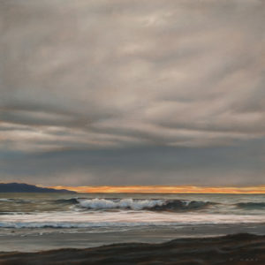 """SOLD """"Southern Horizon,"""" by Ray Ward 10 x 10 - oil $1075 Unframed $1320 in show frame"""