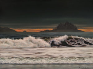"""SOLD """"Storm Light,"""" by Ray Ward 9 x 12 - oil $1125 Unframed $1370 in show frame"""