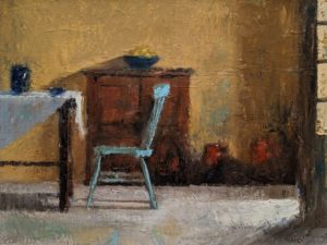 "SOLD ""Turquoise,"" by Paul Healey 18 x 24 - oil $1550 unframed"