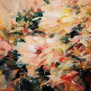 """SOLD """"In a Flash,"""" by William Liao 12 x 12 - acrylic $635 (thick canvas wrap)"""