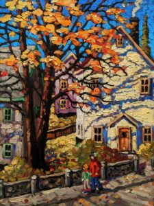 """SOLD """"Shades of Autumn,"""" by Rod Charlesworth 12 x 16 - oil $1395 Unframed"""