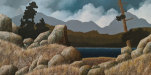 """SOLD """"Blustery Afternoon,"""" by Ken Kirkby 30 x 60 - oil $5000 Unframed"""