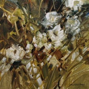 """""""Meadow Flowers,"""" by Janice Robertson 12 x 12 - acrylic $730 (thick canvas wrap)"""