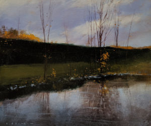 """SOLD """"Changing Days,"""" by David Lidbetter 10 x 12 - oil $1000 (unframed panel with 1 1/2"""" edges)"""