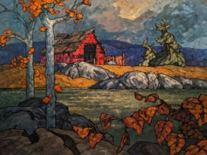 """SOLD """"Morris Valley Shed,"""" by Phil Buytendorp 36 x 48 - oil $5200 (thick canvas wrap)"""