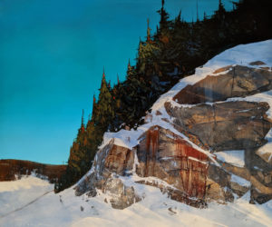 """SOLD """"Northern Shield,"""" by David Lidbetter 30 x 36 - oil $4055 (thick canvas wrap)"""
