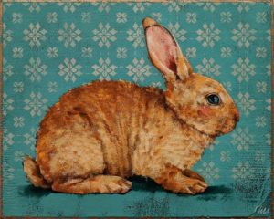 """SOLD """"Butterscotch,"""" by Angie Rees 8 x 10 - acrylic $575 (unframed panel with 1 1/2"""" edges)"""