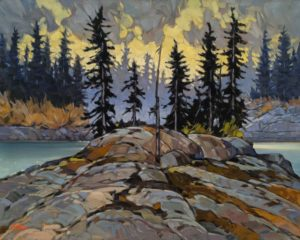 """SOLD """"Stagg River Island,"""" by Graeme Shaw 24 x 30 - oil $2435 (thick canvas wrap)"""