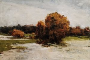 """La fonte d'automne"" (Autumn Melt) by Robert P. Roy 24 x 36 - oil $1900 Unframed"