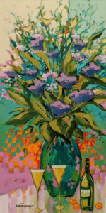 """""""It Will Be a Special Day,"""" by Claudette Castonguay 12 x 24 - acrylic $700 Unframed"""
