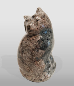 """""""Young Cat,"""" by Herb Latreille 6 1/2"""" (H) - Rainforest marble $360"""