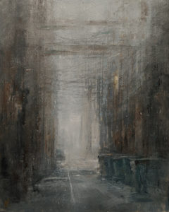 """SOLD """"Morning Fog,"""" by William Liao 16 x 20 - acrylic $1235 Unframed"""
