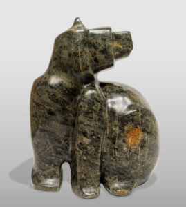 """SOLD """"Keep Your Distance,"""" by Marilyn Armitage 9"""" (H) x 6 1/2"""" (L) - soapstone $800"""