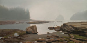 "SOLD ""Lost Horizon,"" by Ray Ward 12 x 24 - oil $1950 Unframed"