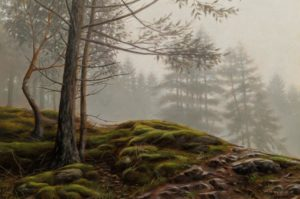 "SOLD ""Mossy Path,"" by Ray Ward 8 x 12 - oil $1050 Unframed"
