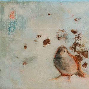 """SOLD """"One Hundred and Eight,"""" by Nikol Haskova 6 x 6 - mixed media, high-gloss finish $380 (unframed panel with thick edges)"""