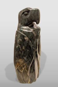 """SOLD """"Proud Leader,"""" by Marilyn Armitage 22"""" (H) - soapstone $1850"""