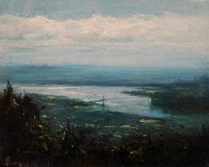 """SOLD """"The River of Time,"""" by William Liao 16 x 20 $1235 Unframed"""