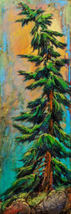 """""""Greener Days,"""" by David Langevin 9 x 27 - acrylic $1235 (panel with 2"""" painted edges)"""