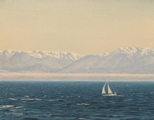 """""""Westerly,"""" by Ron Parker 11 x 14 - oil $1350 Unframed"""