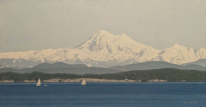 """""""White Sails,"""" by Ron Parker 16 x 30 - oil $2900 Unframed"""