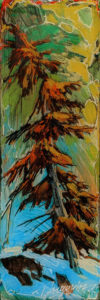 """SOLD """"2000"""" by David Langevin 2 1/2 x 7 1/2 - acrylic, high-gloss finish $195 (5/8"""" panel with painted edges)"""