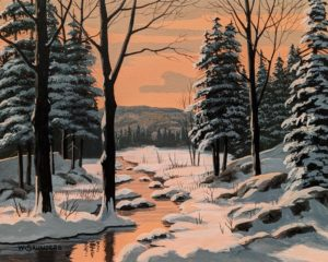 """""""Afternoon Glow,"""" by Bill Saunders 8 x 10 - acrylic $650 Unframed"""