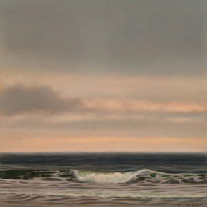 """SOLD """"Aquamarine,"""" by Ray Ward 9 x 9 (on 10 x 10 panel) - oil $985 Unframed"""