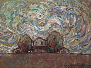 """SOLD """"At Home,"""" by Steve Coffey 6 x 8 - oil $580 Unframed"""